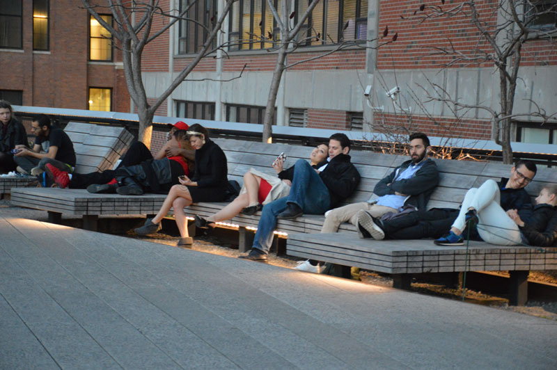 Lounge chairs on the High Line at the Diller-Von Furstenberg Sundeck