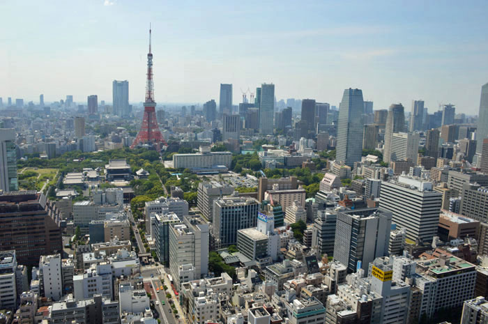 View of Tokyo Tower and Cityscape, Tokyo
