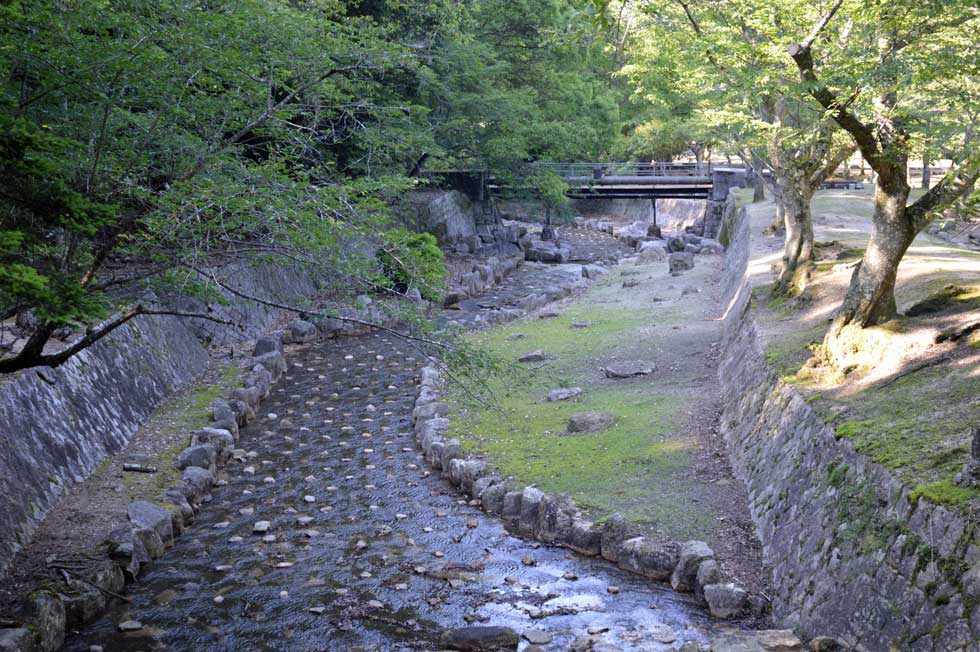 Waterway, Omoto Park, Miyajima, Japan