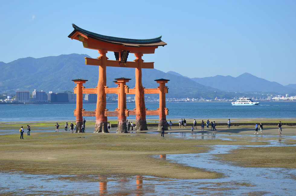 O-Torri at low tide, Miyajima Island, Japan