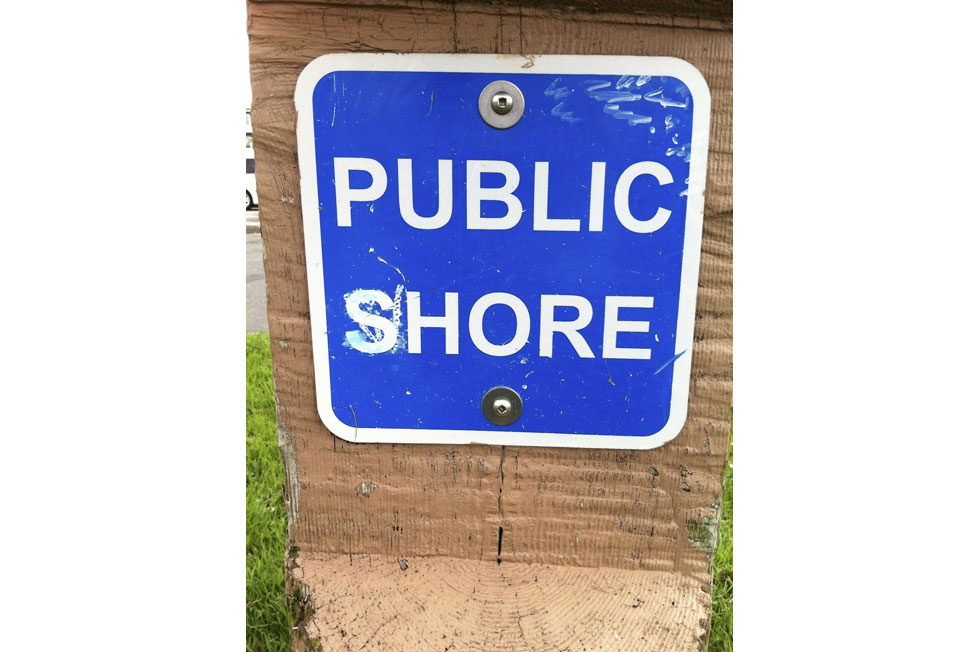 Public Shore Sign, Ruston Way Waterfront, Tacoma, WA