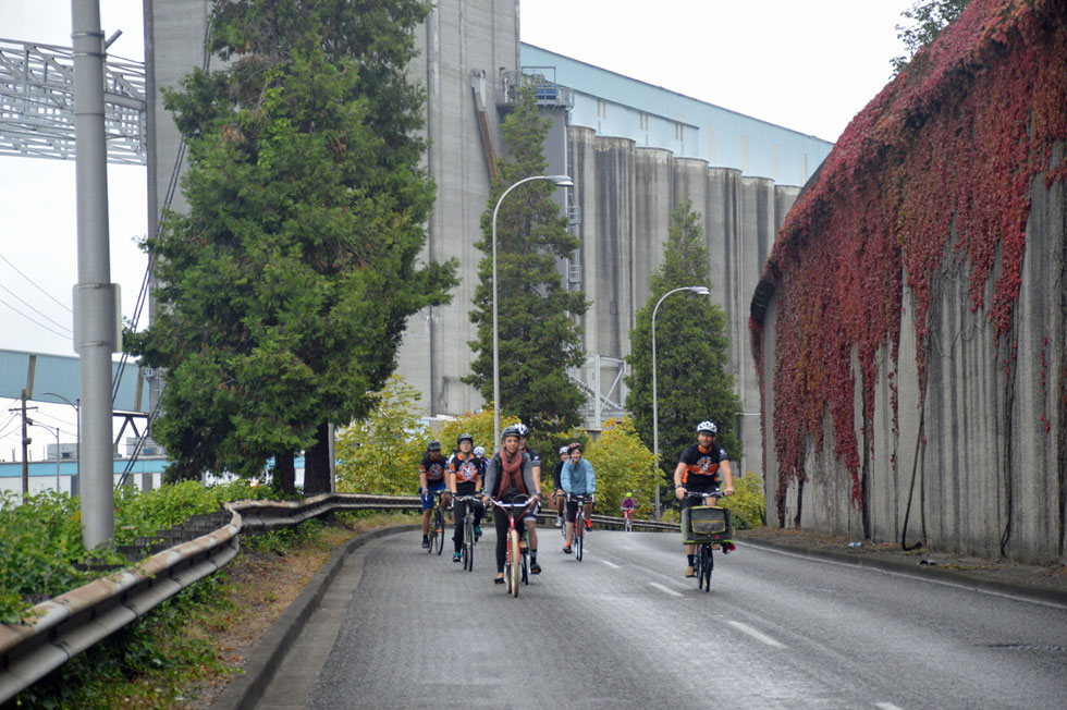 Cyclists on Schuster Parkway, Tacoma, WA